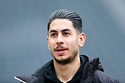 Ayoze Perez (#17) of Newcastle United arrives ahead of the Premier League match between Newcastle United and Swansea City at St. James's Park, Newcastle, England on 13 January 2018. Photo by Craig Doyle.