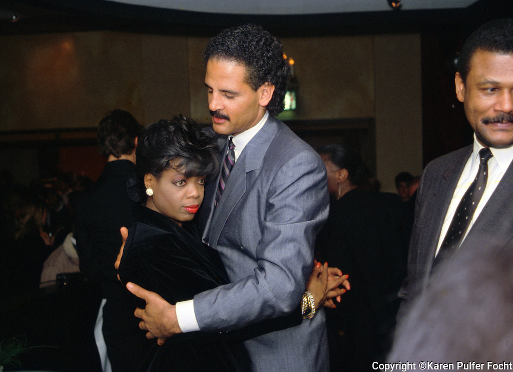 Oprah Winfrey and her long time boyfriend Stedman Graham, Jr. in Chicago, Illionois.