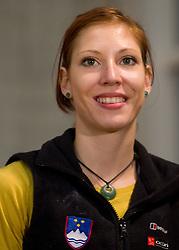 Mina Markovic of Slovenia during Final IFSC World Cup Competition in sport climbing Kranj 2010, on November 14, 2010 in Arena Zlato polje, Kranj, Slovenia. (Photo By Vid Ponikvar / Sportida.com)