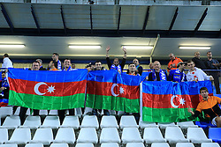 13.10.2014, Stadion Gradski vrt, Osijek, CRO, UEFA Euro Qualifikation, Kroatien vs Aserbaidschan, Gruppe H, im Bild Azerbaijan supporters // during the UEFA EURO 2016 Qualifier group H match between Croatia and Azerbaijan at the Stadion Gradski vrt in Osijek, Croatia on 2014/10/13. EXPA Pictures © 2014, PhotoCredit: EXPA/ Pixsell/ Davor Javorovic<br /> <br /> *****ATTENTION - for AUT, SLO, SUI, SWE, ITA, FRA only*****