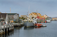 Fishing boats and fisherman's shacks at Peggy's Cove Nova Scotia