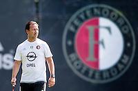 ROTTERDAM - Eerste training met Dirk Kuyt , voetbal , seizoen 2015/2016 , Sportcomplex Varkenoord , 02-07-2015 , Jean Paul van Gastel  tijdens de training
