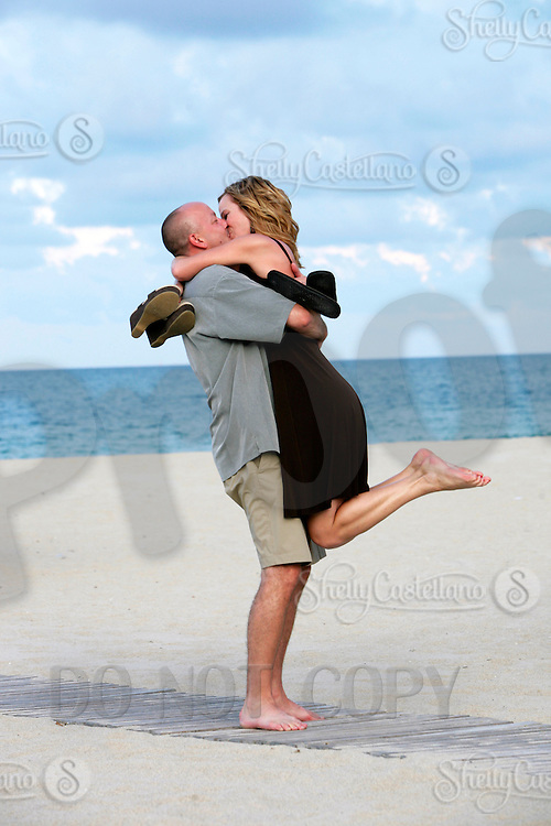 15 June 2010:  Corey Osmak and Tami Ilkuf Engagment photo session at the Harbor Beach Marriott in Ft. Lauderdale, Florida.  Adult man and woman couple before marriage.