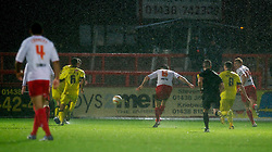 STEVENAGE, ENGLAND - Saturday, November 24, 2012: Stevenage's Greg Tansey scores a late equalising goal in injury time to level the scores 1-1 against Tranmere Rovers during the Football League One match at Broadhall Way. (Pic by David Rawcliffe/Propaganda)