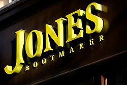 UK ENGLAND LONDON 13MAR07 - Jones Bootmakers shop sign on the Kings Road in the Sloane Square area, a wealthy part of west London.. . jre/Photo by Jiri Rezac. . © Jiri Rezac 2007. . Contact: +44 (0) 7050 110 417. Mobile:  +44 (0) 7801 337 683. Office:  +44 (0) 20 8968 9635. . Email:   jiri@jirirezac.com. Web:    www.jirirezac.com. . © All images Jiri Rezac 2007 - All rights reserved.