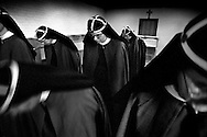Photographer: Chris Maluszynski /MOMENT.The catholic Brigittine convent in Vadstena, Sweden.The eleven nuns live in accordance with St. Birgitta's medieval convent rules. Photographed 2001-2003.Edit from the exhibition SYSTRAR. Most of these prints appear in the book with the same name, published in Sweden 2003..See also http://www.systrar.com