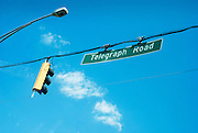Street sign for Telegraph Road.