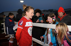 Frankie Brown of Bristol City talks to fans after the match  - Mandatory by-line: Nizaam Jones/JMP - 27/01/2019 - FOOTBALL - Stoke Gifford Stadium - Bristol, England - Bristol City Women v Yeovil Town Ladies- FA Women's Super League 1