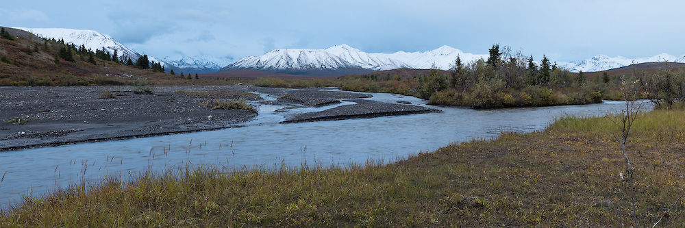 The Alaska Range above the Savage River valley, Denali National Park, Alaska