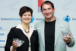 Best athletes Martina Ratej and Primoz Kozmus during the Slovenia's Athlete of the year award ceremony by Slovenian Athletics Federation AZS, on November 15, 2014 in GH Primus, Ptuj, Slovenia. Photo by Vid Ponikvar / Sportida