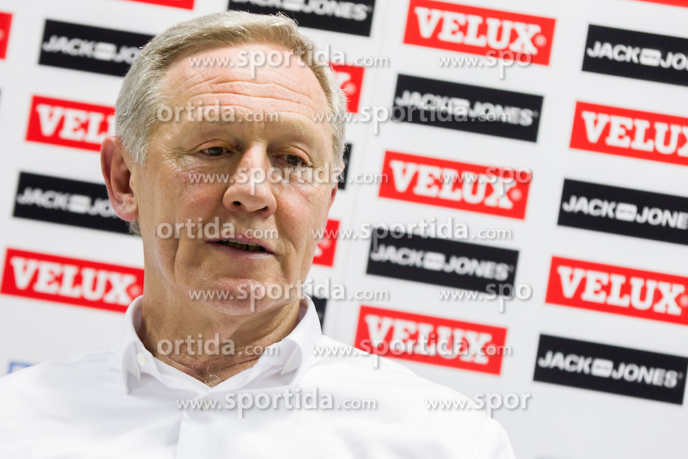 Zvonimir Serdarusic, head coach of Paris Saint-Germain during press conference after handball match between RK Celje Pivovarna Lasko (SLO) and Paris Saint-Germain (FRA) in Round #5 of Group Phase of EHF Champions League 2015/16, on October 18, 2015 in Arena Zlatorog, Celje, Slovenia. Photo by Urban Urbanc / Sportida