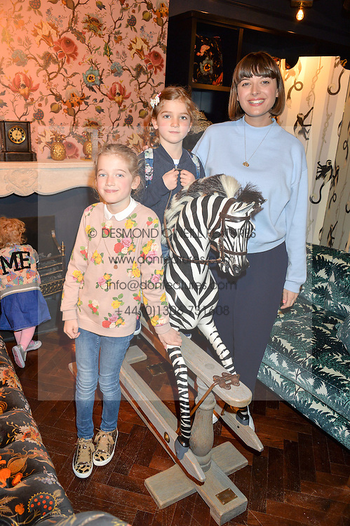 Blogger CLEMMIE HOOPER and her children ANYA (L) and MARLEY (R)at the launch of the House of Hackney La Coqueta childrens' fashion collectection held at House of Hackney, 131 Shoreditch High Street, London on 23rd April 2016.