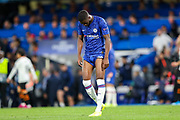 Chelsea defender Fikayo Tomori (29) at the end of the match during the Champions League match between Chelsea and Valencia CF at Stamford Bridge, London, England on 17 September 2019.
