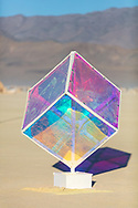 Platonic Two: Tesseract<br /> by: gnArt - Prime & Kerri<br /> from: Calgary, Canada<br /> year: 2019<br /> <br /> A shimmering cube of wonder. What will one see when one gazes upon it?<br /> <br /> https://burningman.org/event/brc/2019-art-installations/?yyyy=&artType=B#a2I0V000001T9uKUAS