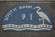 Los angeles Riverfront Greenway. Los Angeles River, Van Nuys, California, USA