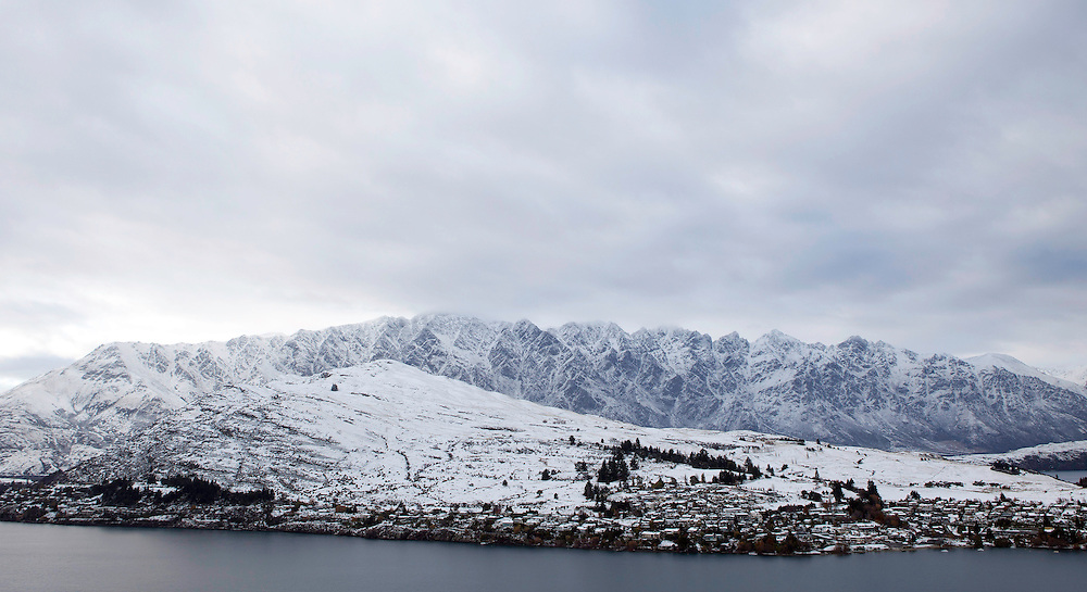 Remarkables mountain range is covered in snow after storm passes through, Queenstown, New Zealand, Wednesday, May 29, 2013. Credit:SNPA / Teaukura Moetaua