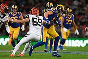 Cincinnati Bengals Linebacker Nick Vigil (59) tackles LA Rams Wide Receiver Cooper Kupp (18) during the International Series match between Los Angeles Rams and Cincinnati Bengals at Wembley Stadium, London, England on 27 October 2019.