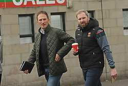 Alan Dillon and Mickey Conroy on their way to  McHale park on sunday last.<br />Pic Conor McKeown