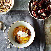 Oranges with Ice Cream, Almonds, and Dates