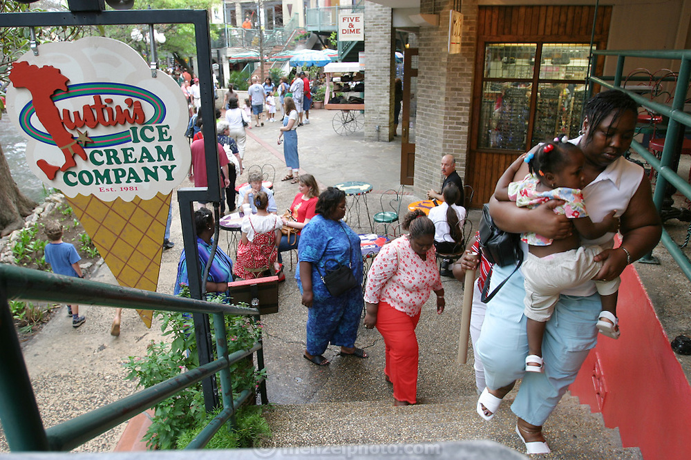 Riverwalk in San Antonio, Texas. (Supporting image from the project Hungry Planet: What the World Eats.)