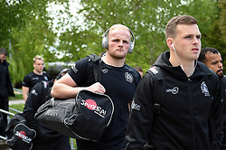 Josh Caulfield and the rest of the Exeter Chiefs team arrive at Allianz Park - Mandatory byline: Patrick Khachfe/JMP - 07966 386802 - 04/05/2019 - RUGBY UNION - Allianz Park - London, England - Saracens v Exeter Chiefs - Gallagher Premiership Rugby