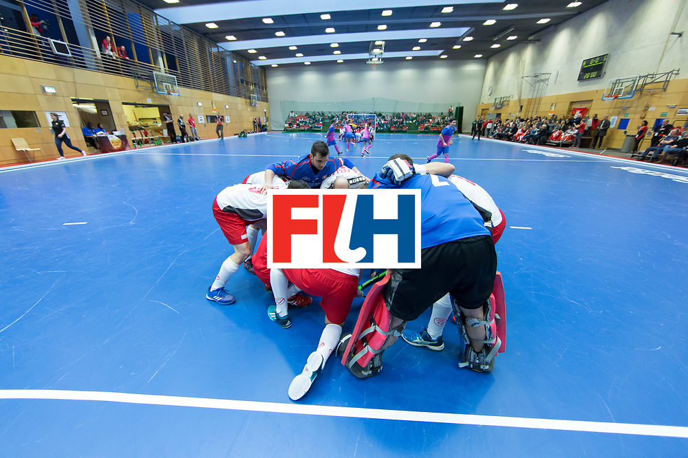 Hockey, Seizoen 2017-2018, 09-02-2018, Berlijn,  Max-Schmelling Halle, WK Zaalhockey 2018 MEN, Austria - Switzerland 2-2, Team Switzerland