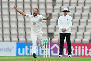 Gareth Berg of Hampshire appeals for a wicket which is given not out during the Specsavers County Champ Div 1 match between Hampshire County Cricket Club and Worcestershire County Cricket Club at the Ageas Bowl, Southampton, United Kingdom on 13 April 2018. Picture by Graham Hunt.