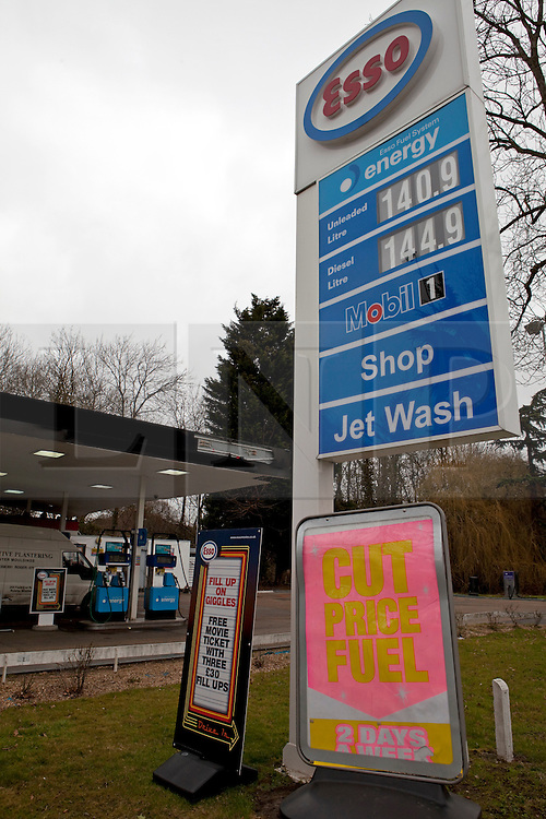 © Licensed to London News Pictures. 27/02/2012. London, U.K..Fuel prices rise across U.K. More rises are possible due to issues in Middle East..Photo credit : Rich Bowen/LNP