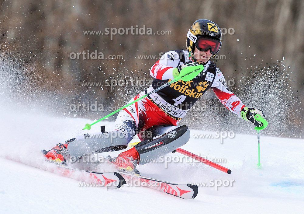 30.11.2014, Aspen Mountain Course, Aspen, USA, FIS Weltcup Ski Alpin, Aspen, Slalom, Damen, 1. Lauf, im Bild Kathrin Zettel (AUT) // Kathrin Zettel of Austria in action during 1st run of ladies Slalom of FIS Ski Alpine Worldcup at the Aspen Mountain Course in Aspen, Canada on 2014/11/30. EXPA Pictures © 2014, PhotoCredit: EXPA/ Erich Spiess