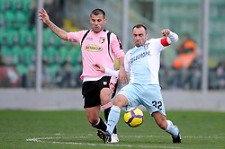 21.02.2010, Stadio Renzo Barbera, Palermo, ITA, Serie A, US Palermo vs Lazio Rom, im Bild Antonio NOCERINO Palermo, Christian BROCCHI Lazio, EXPA Pictures © 2010, PhotoCredit: EXPA/ InsideFoto / for Slovenia SPORTIDA PHOTO AGENCY.