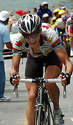 Kanstantin Sivtsov of High Road on his way to victory in the Brasstown Bald stage of the 2008 Tour de Georgia
