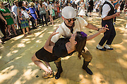 A deep dip on the dance floor at the Jazz Age Lawn Party.