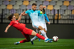Conor Gallagher of England and Jan Mlakar of Slovenia during friendly Football match between U21 national teams of Slovenia and England, on October 11, 2019 in Ljudski Vrt, Maribor, Slovenia. Photo by Blaž Weindorfer / Sportida