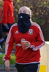 NEWPORT, WALES - Friday, November 24, 2017: Wales' Natasha Harding during a pre-match walk around the Coldra Court Hotel ahead of the FIFA Women's World Cup 2019 Qualifying Round Group 1 match between Wales and Kazakhstan. (Pic by David Rawcliffe/Propaganda)