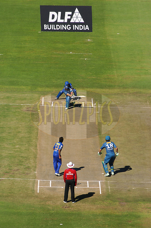 PORT ELIZABETH, SOUTH AFRICA - 2 May 2009.  A view from the top during the  IPL Season 2 match between the Deccan chargers vs Rajasthan Royals held at St Georges Park in Port Elizabeth , South Africa.
