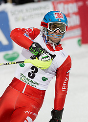 27.01.2015, Planai, Schladming, AUT, FIS Skiweltcup Alpin, Schladming, 2. Lauf, im Bild Stefano Gross (ITA) // Stefano Gross (ITA) during the second run of the men's slalom of Schladming FIS Ski Alpine World Cup at the Planai Course in Schladming, Austria on 2015/01/27, EXPA Pictures © 2015, PhotoCredit: EXPA/ Erwin Scheriau