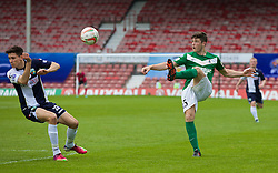 WREXHAM, WALES - Saturday, May 3, 2014: Aberystwyth Town's Luke Sherbon in action against The New Saints during the Welsh Cup Final at the Racecourse Ground. (Pic by David Rawcliffe/Propaganda)