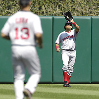 09 September 2007:  Boston Red Sox center fielder Coco Crisp (10) in action against the Baltimore Orioles.  The Red Sox defeated the Orioles 3-2 at Camden Yards in Baltimore, MD.  ****For Editorial Use Only****