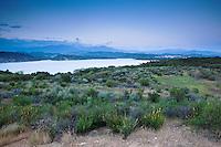 Cachuma Lake at Dusk, Santa Barbara County, California