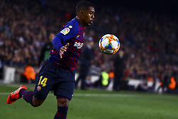 February 6, 2019 - Barcelona, Spain - FC Barcelona's forward  Malcom   During semifinal of spanish King Cup frist leg match between FC Barcelona and Real Madrid at  Nou Camp Stadium on February  6, 2019. (Credit Image: © Jose Miguel Fernandez/NurPhoto via ZUMA Press)