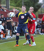 Brechin's Andy Jackson and Dundee's Gary Irvine - Brechin City v Dundee, pre-season friendly at Dens Park<br /> <br />  - &copy; David Young - www.davidyoungphoto.co.uk - email: davidyoungphoto@gmail.com