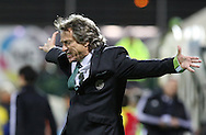 Sporting's coach Jorge Jesus  reacts during  Portuguese first league football match União vs Sporting held at Madeira stadium in Funchal on December 20, 2015.  LUSA / GREGORIO CUNHA