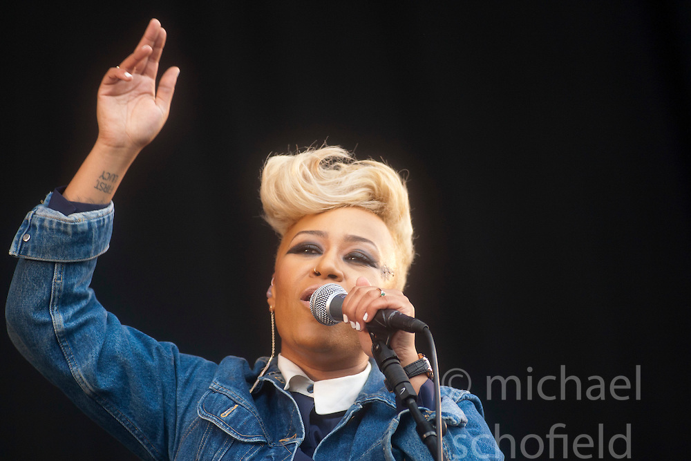 Emile Sande plays the main stage. Saturday, at T in the Park 2012, held at Balado, in Fife, Scotland..