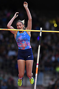 Holly Bradshaw (GBR) places sixth in the women's pole vault at 14-11 (4.55m) during the 42nd Memorial Van Damme in an IAAF Diamond League meet at King Baudouin Stadium in Brussels, Belgium on Friday, September 1, 2017. (Jiro Mochizuki/Image of Sport)