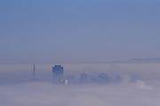 Dawn fog over San Francisco, California