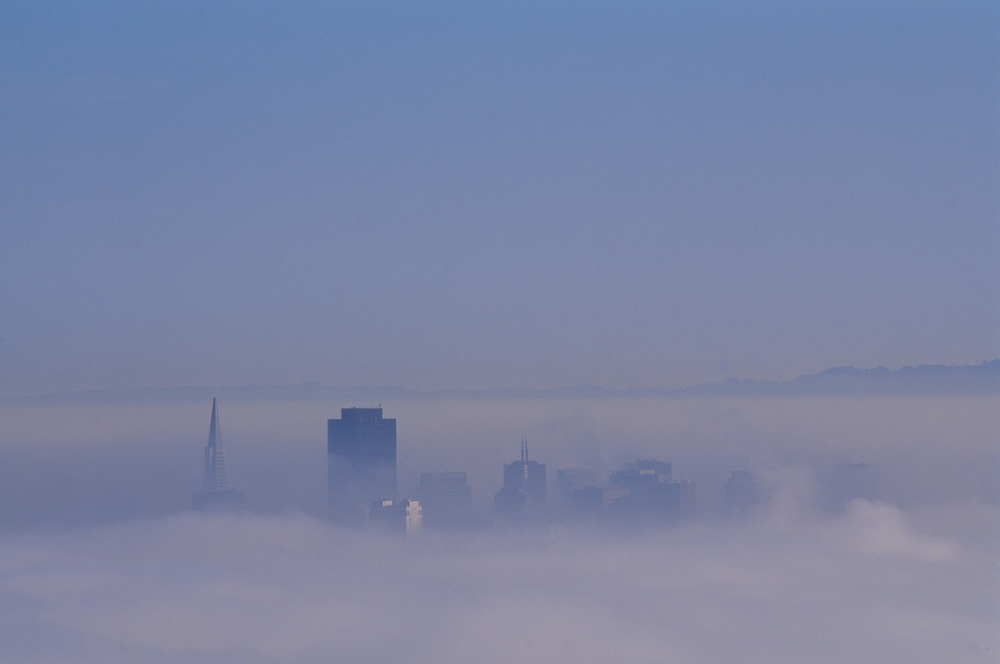 Dawn fog over San Francisco, California