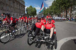 © licensed to London News Pictures. London, UK 02/06/2013. Thousands of Help for Heroes volunteers and wounded soldiers join the annual Hero Ride fundraising event in central London on Sunday, 2 June 2013 . Photo credit: Tolga Akmen/LNP