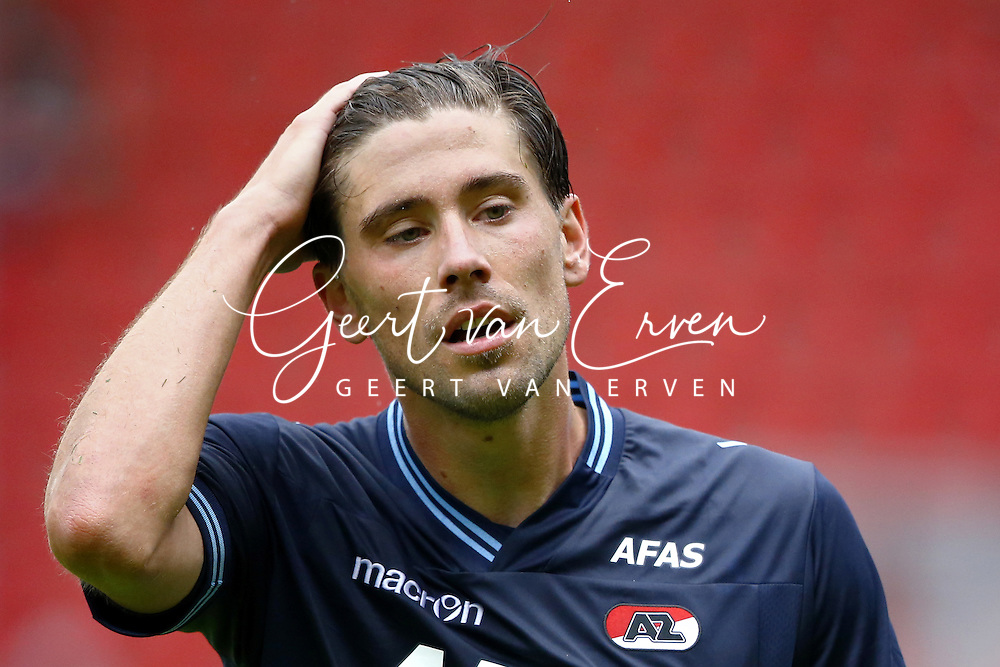 Onderwerp/Subject: AZ Alkmaar - Eredivisie<br /> Reklame:  <br /> Club/Team/Country: <br /> Seizoen/Season: 2013/2014<br /> FOTO/PHOTO: Jan WUYTENS of AZ Alkmaar dejected after the match ( 2 - 0 ). (Photo by PICS UNITED)<br /> <br /> Trefwoorden/Keywords: <br /> #03 $94 &plusmn;1371811811150<br /> Photo- &amp; Copyrights &copy; PICS UNITED <br /> P.O. Box 7164 - 5605 BE  EINDHOVEN (THE NETHERLANDS) <br /> Phone +31 (0)40 296 28 00 <br /> Fax +31 (0) 40 248 47 43 <br /> http://www.pics-united.com <br /> e-mail : sales@pics-united.com (If you would like to raise any issues regarding any aspects of products / service of PICS UNITED) or <br /> e-mail : sales@pics-united.com   <br /> <br /> ATTENTIE: <br /> Publicatie ook bij aanbieding door derden is slechts toegestaan na verkregen toestemming van Pics United. <br /> VOLLEDIGE NAAMSVERMELDING IS VERPLICHT! (&copy; PICS UNITED/Naam Fotograaf, zie veld 4 van de bestandsinfo 'credits') <br /> ATTENTION:  <br /> &copy; Pics United. Reproduction/publication of this photo by any parties is only permitted after authorisation is sought and obtained from  PICS UNITED- THE NETHERLANDS