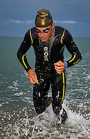 BARCELONA, SPAIN - OCTOBER 05:  Garmin Barcelona Triathlon 2014 at Playa de la Mar Bella on October 05 2014 in Barcelona. (Photo by Manuel Queimadelos)