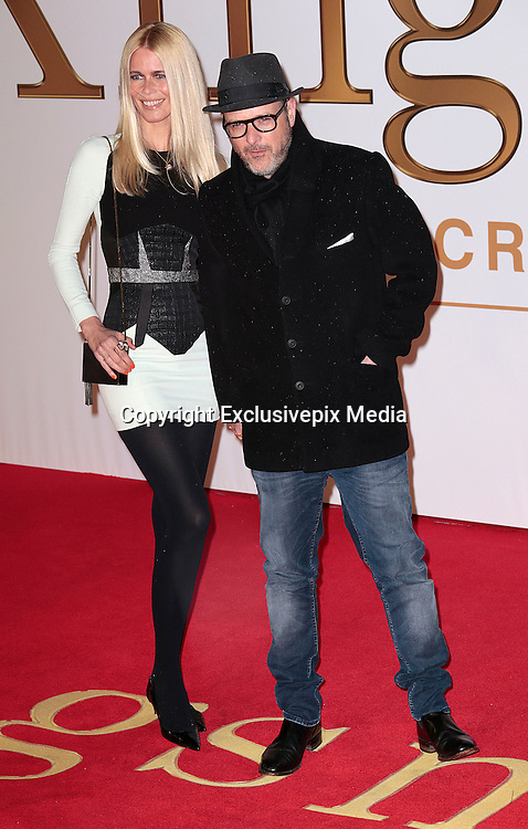 """Jan 14, 2015 - """"Kingsman: The Secret Service"""" - World Premiere - Red Carpet Arrivals at Odeon,  Leicester Square, London<br /> <br /> Pictured: Claudia Schiffer and director Matthew Vaughn<br /> ©Exclusivepix Media"""